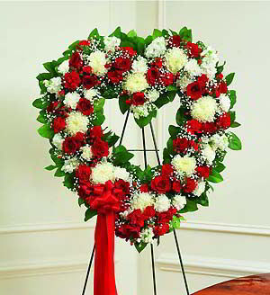 Denville Florist | Red & White Heart